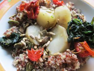 topinambur mniszek quinoa