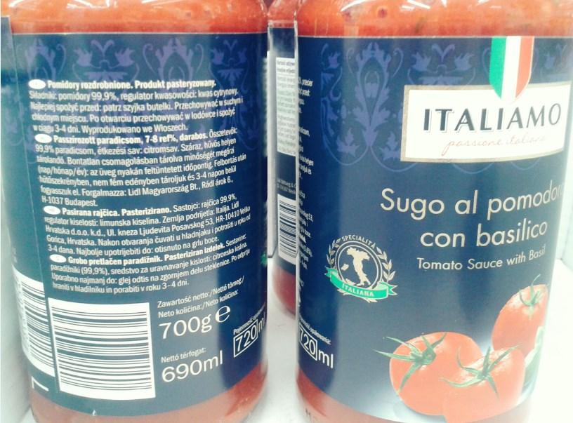 Sosy pomidorowe w ramach tygodnia włoskiego - krótki skład, bez chemii, wegańskie.