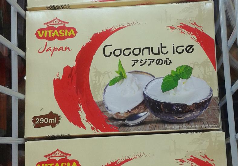 Uwaga! lody kokosowe okazaly się być mleczne. Podstawą niestety nie jest kokos tylko krowie mleko:/