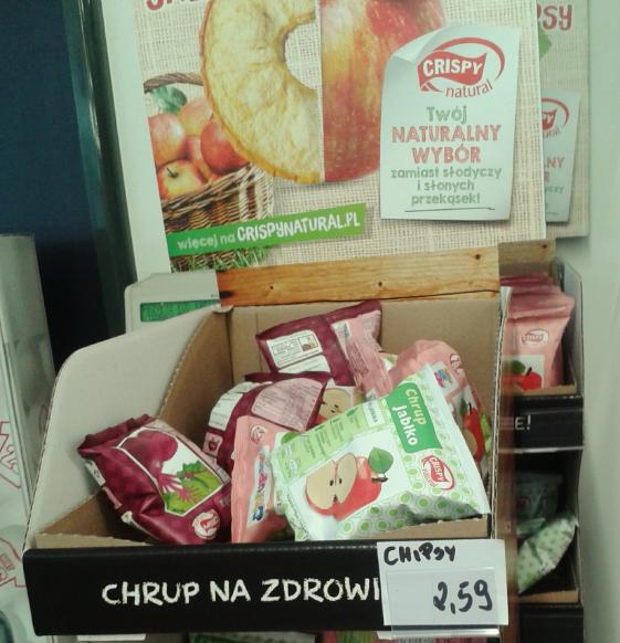 I na pożegnanie przy kasie zdrowe chipsy w przyzwoitej cenie (2,99zł)