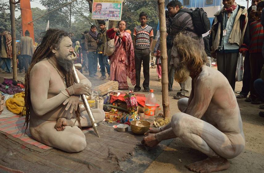 Naga Sadhu w Indiach 2013 (za: wikipedia.org)