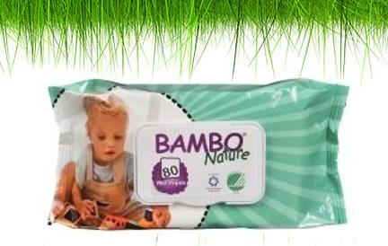 Chusteczki Bambo bezpieczne dla maluchów.
