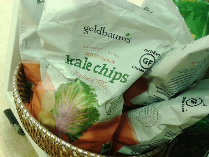 Chipsy z jarmuża.