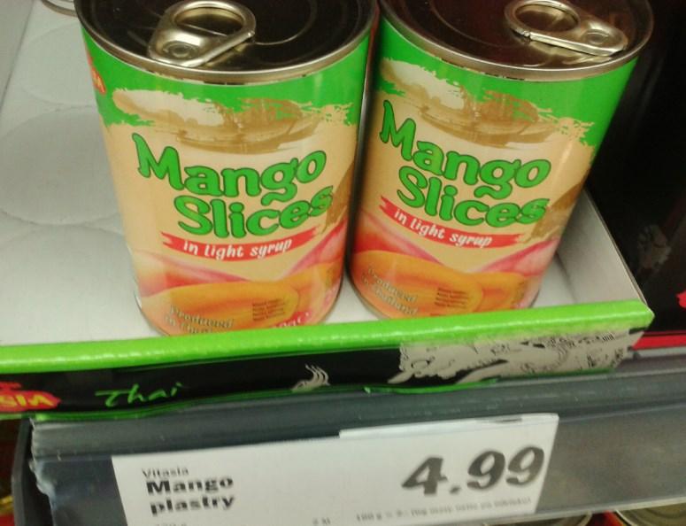 Plastry mango.