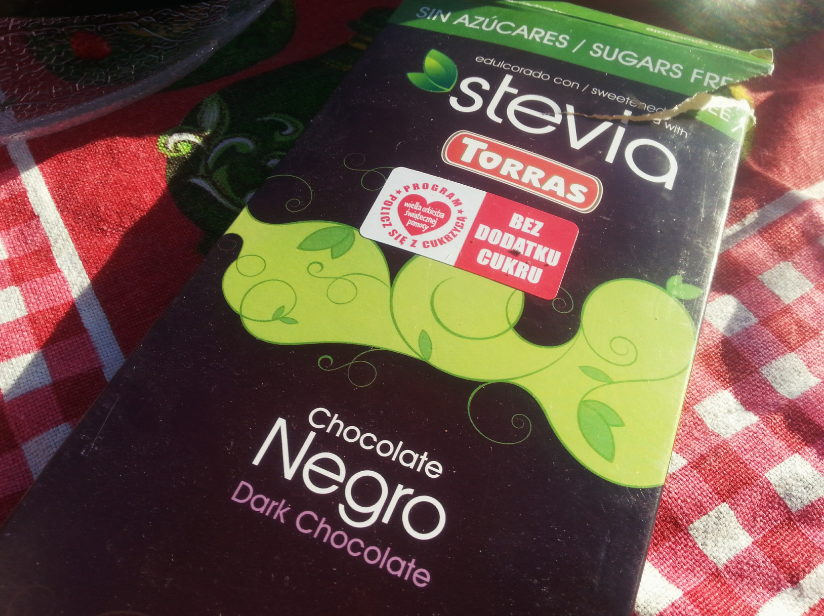 Czekolada bez cukru i laktozy! Torras Chocolate Negro Stevia :)