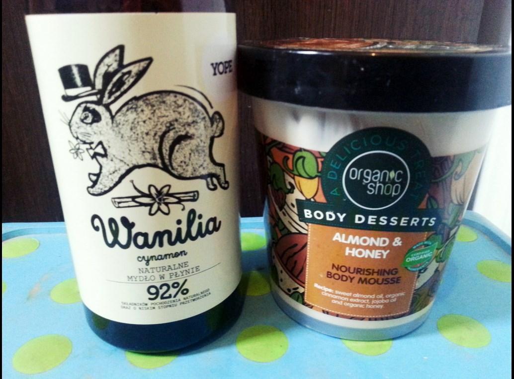 Mydło Yop i balsam cud Organic Shop.