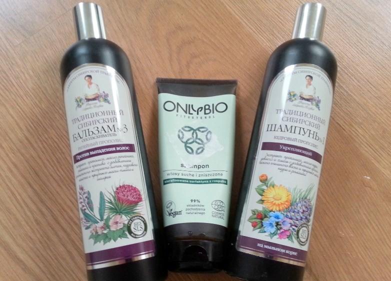 Przegląd eko-szamponów. Tu Agafia i Only Bio.